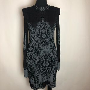 Free People Dress Medium M Black Grey